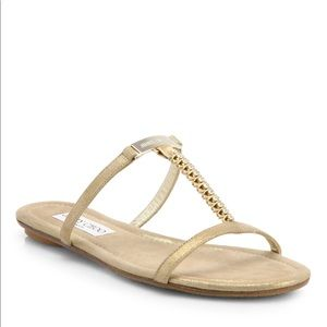 Jimmy Choo Shoes - Authentic Jimmy Choo Nala Gold Shimmer Sandals